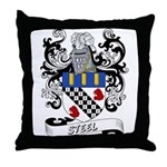 Steel Coat of Arms Throw Pillow