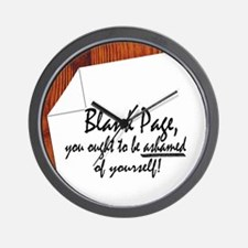 Blank Page Wall Clock