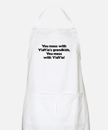 Don't Mess with YiaYia's Grandkids! BBQ Apron