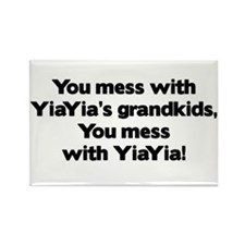 Don't Mess with YiaYia's Grandkids! Rectangle Magn