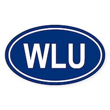 WLU Oval Bumper Stickers