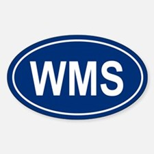 WMS Oval Decal