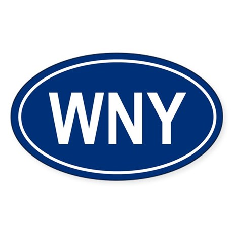 WNY Oval Sticker