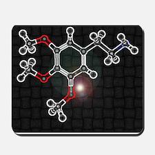 Mescaline molecule Mousepad
