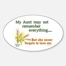 Never Forgets To Love 2 (Aunt) Oval Decal