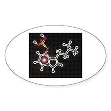 Psilocyben molecule Oval Decal
