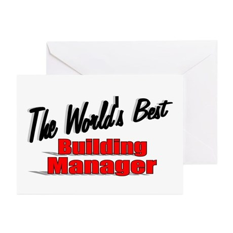 """""""The World's Best Building Manager"""" Greeting Cards"""
