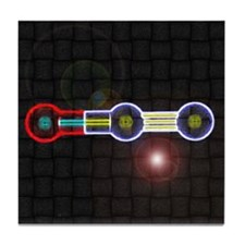 Nitrous-Oxide molecule Tile Coaster
