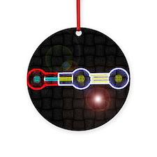 Nitrous-Oxide molecule Ornament (Round)