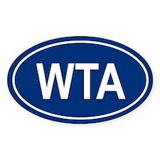WTA Oval Decal