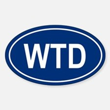 WTD Oval Decal