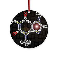 Caffeine molecule Ornament (Round)