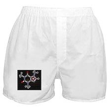 Caffeine molecule Boxer Shorts