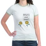 What's your zone? Jr. Ringer T-Shirt