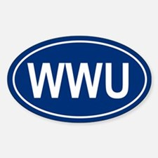 WWU Oval Decal