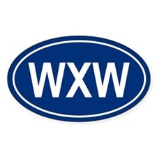WXW Oval Decal