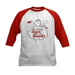 Anti-Valentine's Day Stupid Cupid Kids Baseball Je