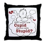 Anti-Valentine's Day Stupid Cupid Throw Pillow