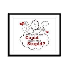 Anti-Valentine's Day Stupid Cupid Framed Panel Pri