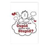 Anti-Valentine's Day Stupid Cupid Postcards (Packa