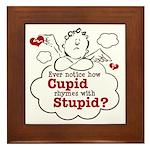 Anti-Valentine's Day Stupid Cupid Framed Tile