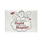 Anti-Valentine's Day Stupid Cupid Rectangle Magnet