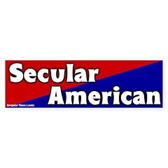 Secular American Bumper Bumper Sticker