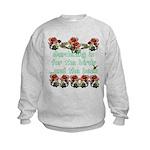 Gardening is for the birds Kids Sweatshirt