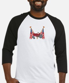 American Flags Red Tractor Baseball Jersey