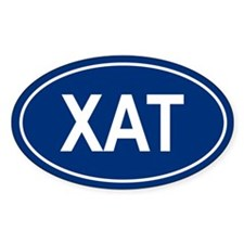 XAT Oval Bumper Stickers
