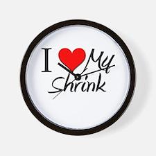 I Heart My Shrink Wall Clock