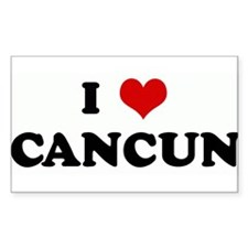 I Love CANCUN Rectangle Decal