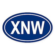XNW Oval Decal