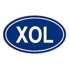 XOL Oval Decal