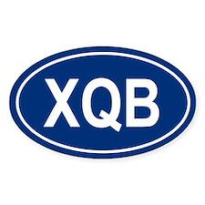 XQB Oval Decal