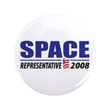 "Space 2008 3.5"" Button (100 pack)"