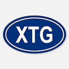 XTG Oval Decal
