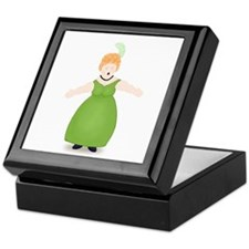 Strawberry Blond Singer in Green Keepsake Box