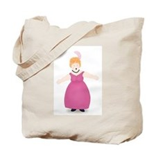Strawberry Blond Singer in Rose Tote Bag