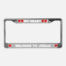 My Heart: Josiah (#006) License Plate Frame