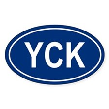 YCK Oval Decal