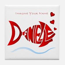 Love Danielle Tile Coaster