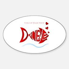 Love Danielle Oval Decal