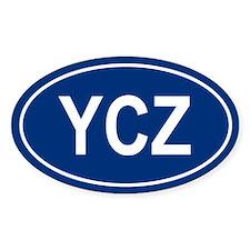 YCZ Oval Decal