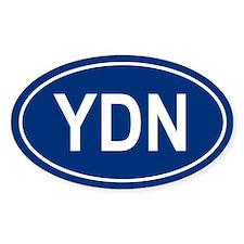 YDN Oval Decal