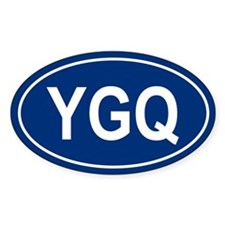 YGQ Oval Decal