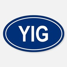 YIG Oval Decal