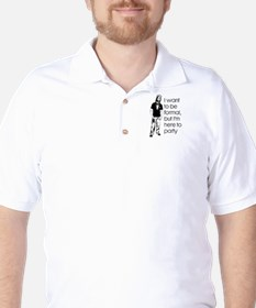 Jesus partys Golf Shirt