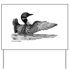 Painted Loon Yard Sign
