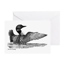 Painted Loon Greeting Card